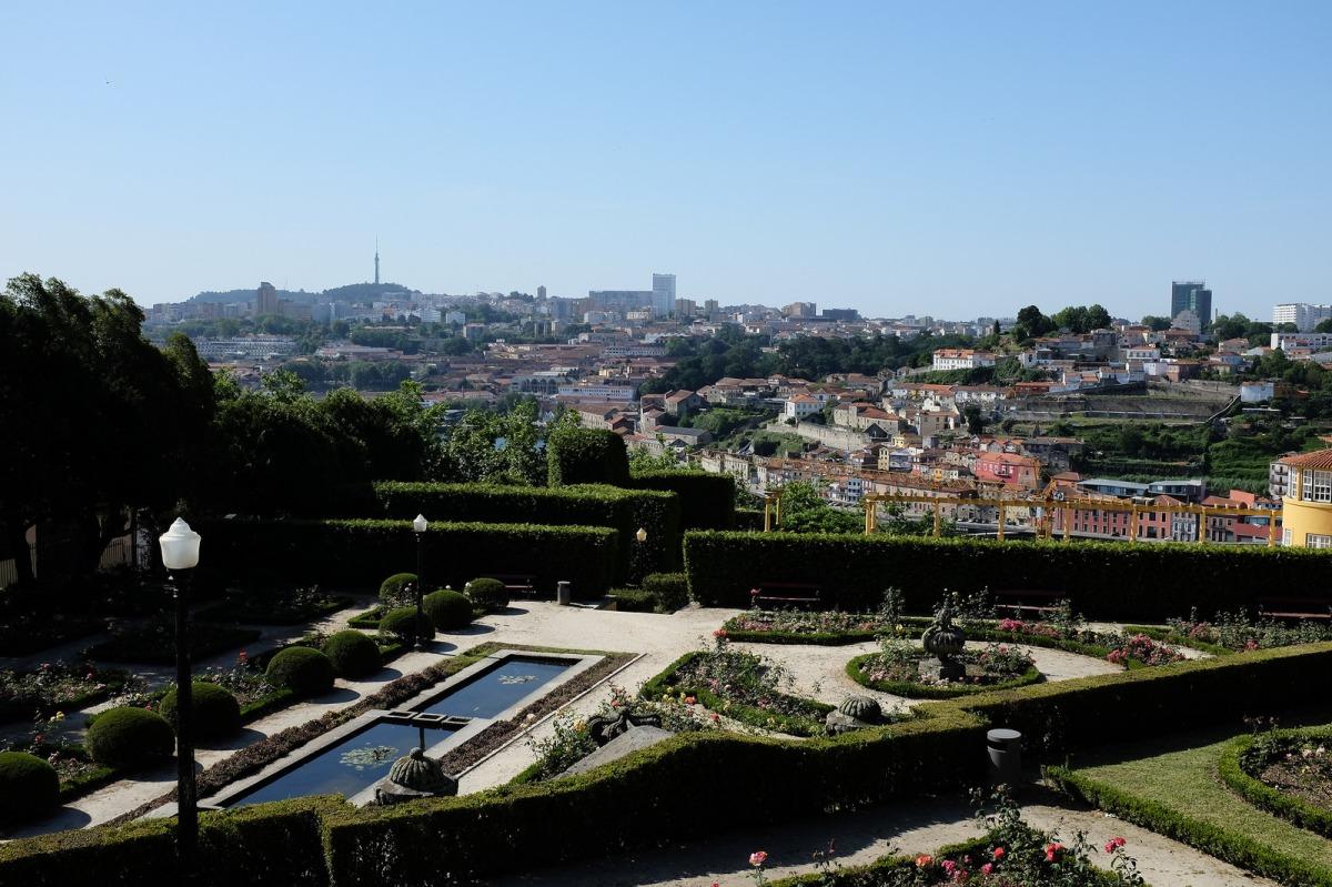 Porto jardins do palacio de cristal