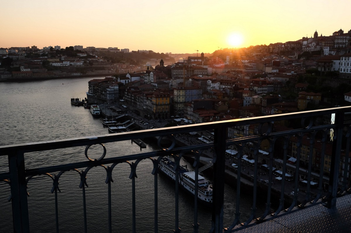 Porto sunset bridge Dom Luiz