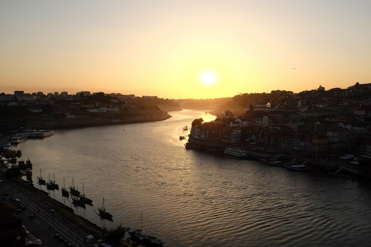 Porto sunset over Douro