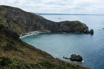 Les falaises du nez de Jobourg dans le Cotentin