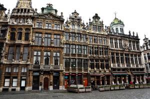 Les maisons qui bordent la Grand'Place de Bruxelles