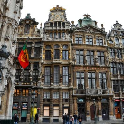 Les façades des maisons de la Grand'Place au cœur de Bruxelles