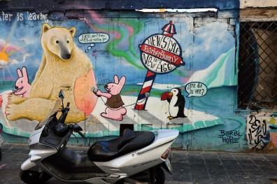 Street Art sur les murs de la ville de Valence dans le quartier El Carmen