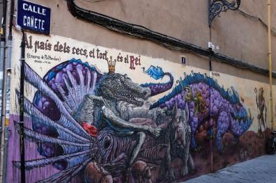 Street Art dans les rues de Valence