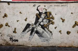 Street Art sur un mur