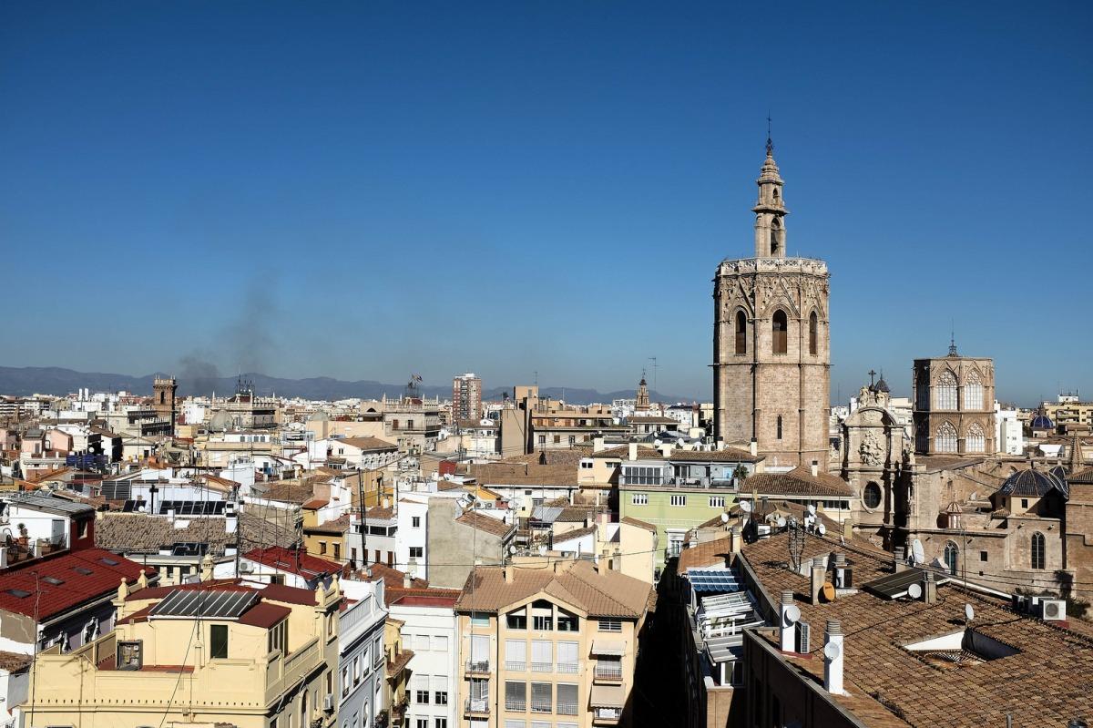 Valencia view Miguelete Santa Catalina