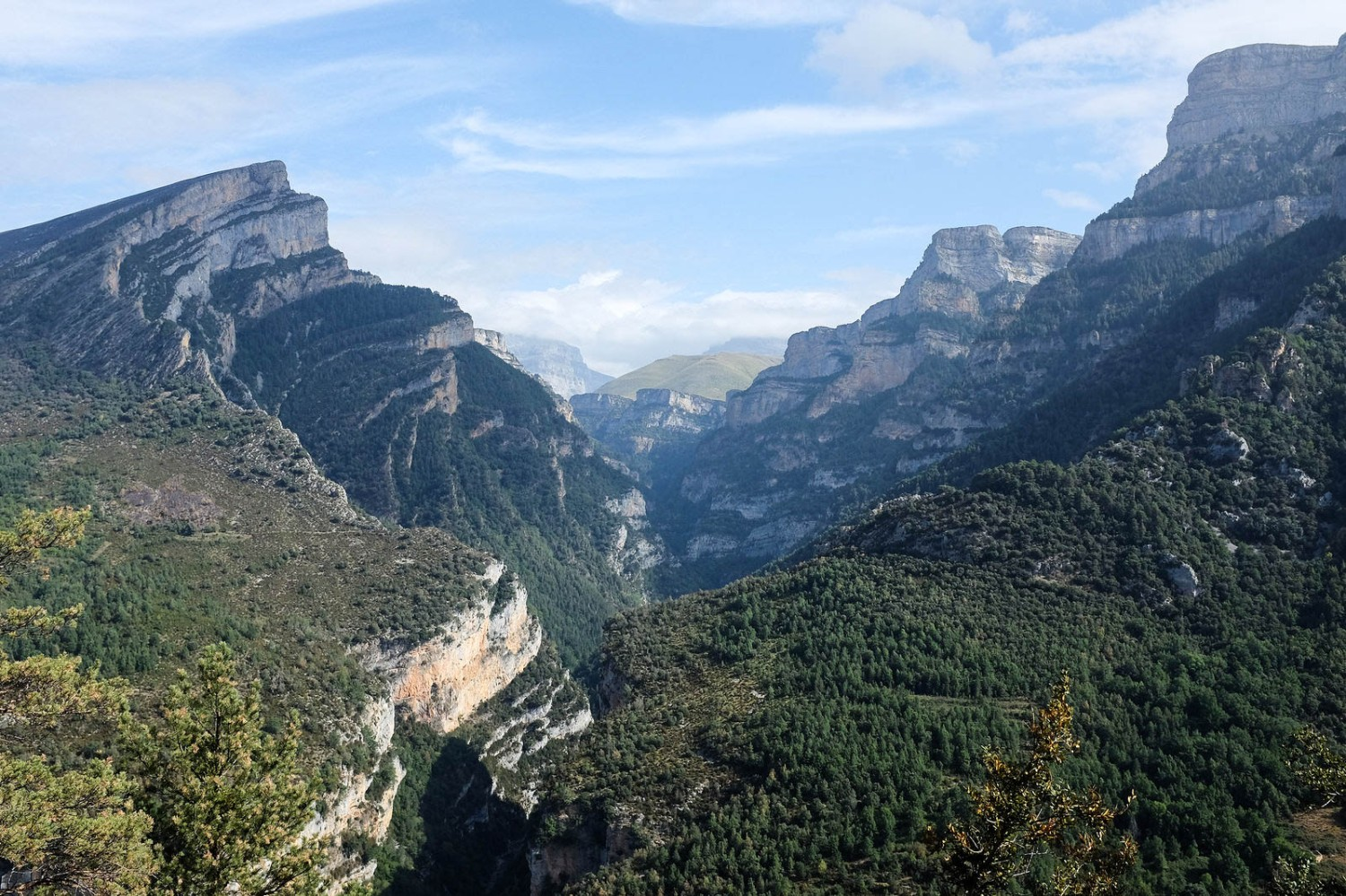 Incroyable point de vue sur le canyon d'Añisclo