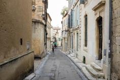 Les ruelles autour de l'amphithéâtre de Arles