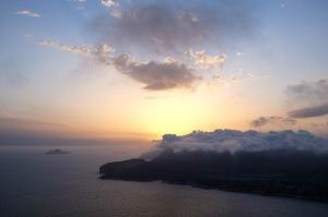 Coucher de soleil depuis la route des crêtes entre Cassis et La Ciotat