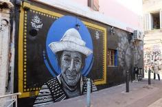 Les fresques murales fleurissent dans le Cours Julien, quartier du Street Art de Marseille
