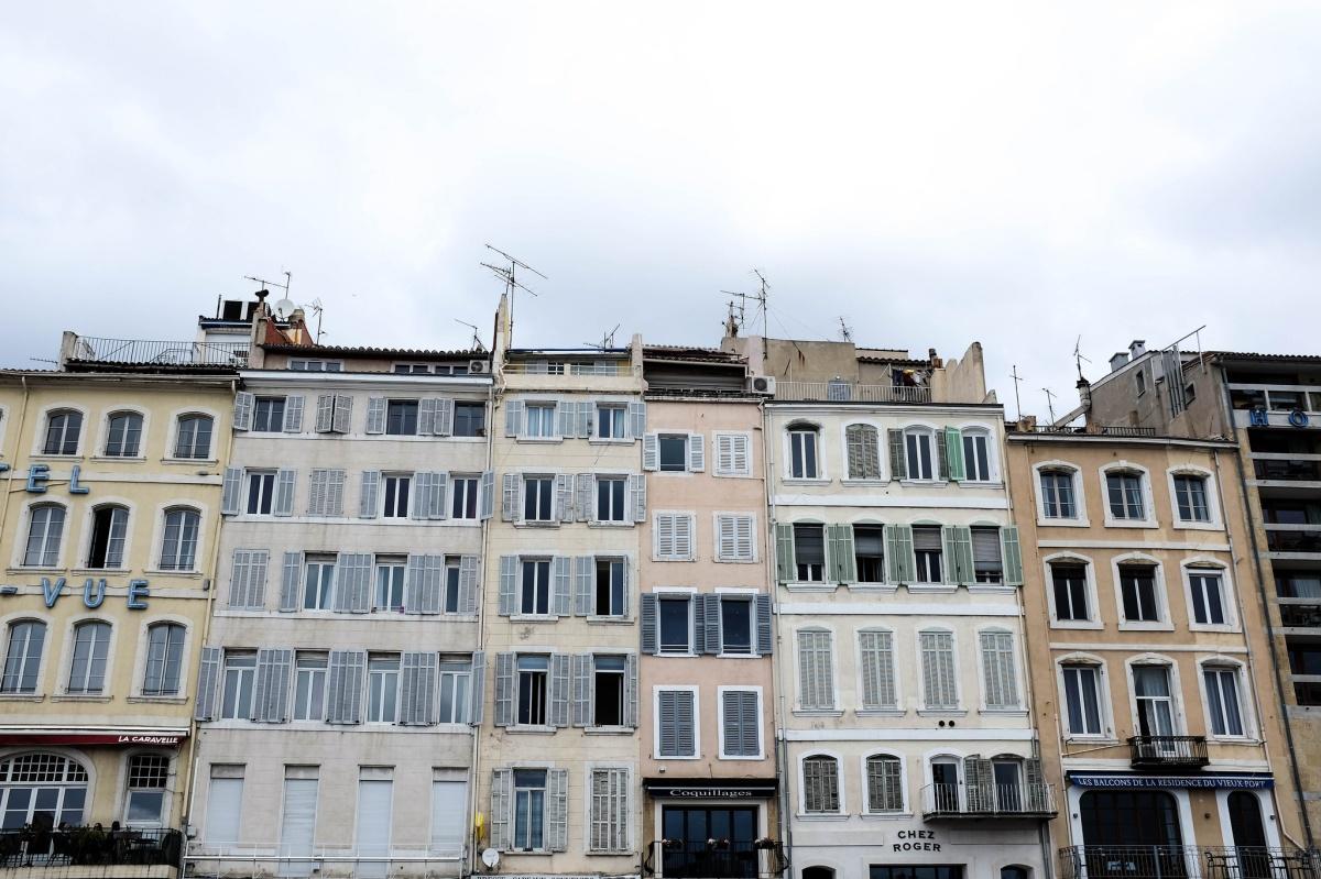 Marseille immeubles vieux port