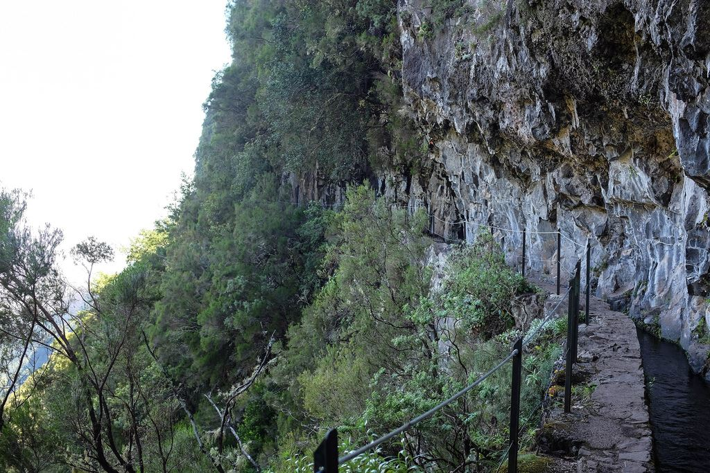 Sentier à flanc de montagne à Madère