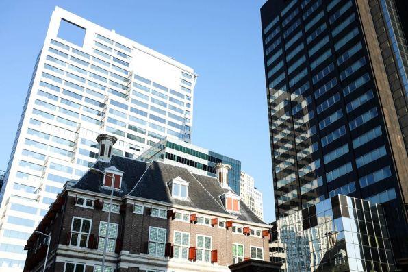 Le mélange des architectures de Rotterdam