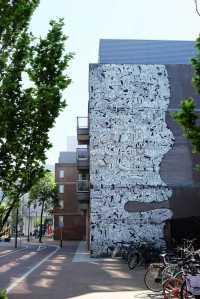 Des œuvres de street art dans la ville de Rotterdam